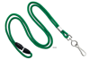 "Picture of 1/8"" Round 36"" Cord Lanyard with breakaway - Nickel Plated Steel Swivel Hook, Split Ring or Bulldog Clip."