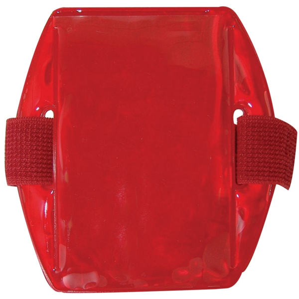 Picture of Reflective Armband Badge Holders -  Red